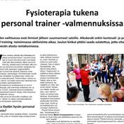 K&F 2015: Fysioterapia tukena     personal trainer -valmennuksissa