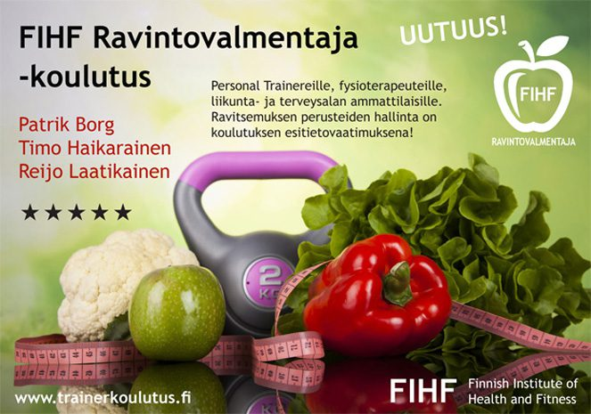 FIHF Ravintovalmentaja-koulutus kuva